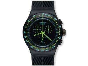 com   Swatch Irony Chrono Green in Dark Black Dial Mens watch #YOB100
