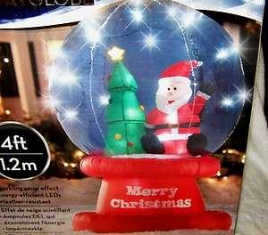 Christmas Santa Snow Globe Airblown Inflatable 4 Feet Yard Art Lights