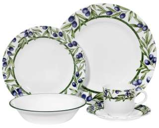20 pc CORELLE OLIVE BRANCHES DINNERWARE SET *VHTF NEW*