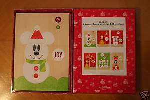 DISNEY WORLD DISNEYLAND MICKEY MOUSE CHRISTMAS CARDS