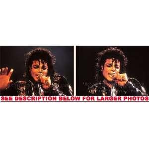 MICHAEL JACKSON DANGEROUS TOUR CLOSEUP (2) RARE 8x10 FINE