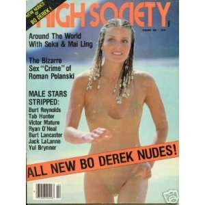 February 1981 Bo Derek High Society Magazine: High Society