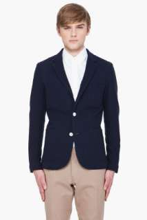 Shades Of Grey By Micah Cohen Navy Two Button Blazer for men