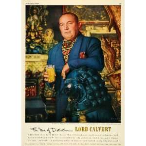 1949 Ad Robert L Ripley Author Lord Calvert Whiskey   Original Print