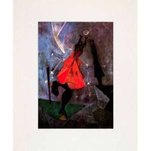 1947 Tipped In Print Women Reaching Moon Rufino Tamayo