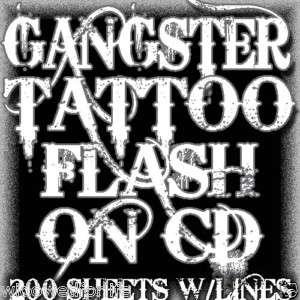 TATTOO FLASH GANGSTER ART 200 SHEETS W/LINES