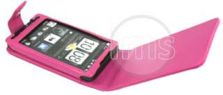 London Magic Store   HOT PINK FLIP LEATHER POUCH CASE COVER FOR HTC HD
