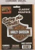 Harley Davidson Embossed Chrome Stick Decal Auto Truck