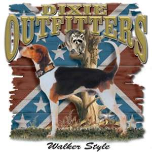 Dixie Rebel Dogs Coon Hunting  WALKER STYLE