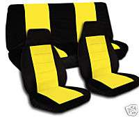 JEEP WARNGLER TJ CPL SET CAR SEAT COVERS + LOGO FRON