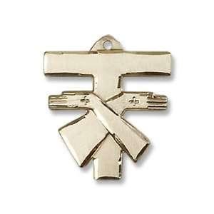 Gold Filled Franciscan Cross Pendant Gold Filled Lite Curb