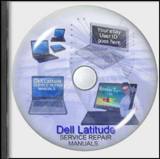 Dell Latitude Laptop Service Repair User Manuals on CD