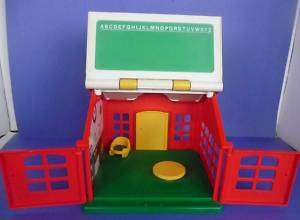 Vintage LITTLE TIKES School House Playset Red White Toy