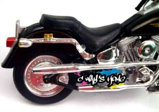 Harley Davidson FLSTF FAT BOY Diecast Motorcycle Model For Kids