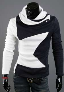 Korea_pop Star mens Turtleneck sweater Wool turtle polo neck shirts
