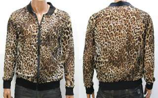 Mens Brown Leopard Print Cool Mesh Jacket M