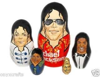 Michael Jackson on Russian Nesting Dolls.