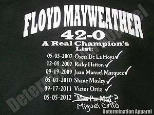 Shirt CHAMPIONS LIST Miguel Cotto  Pacquiao Boxing Money B