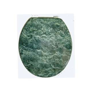 Marbleized Molded Wood Toilet Seat in Green