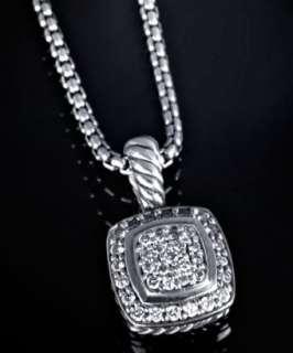 David Yurman blue topaz and sterling silver quatrefoil pendant
