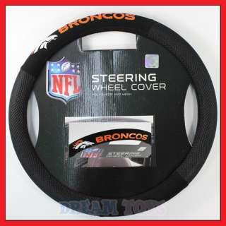 NFL Denver Broncos Steering Wheel Cover   Car Accessory
