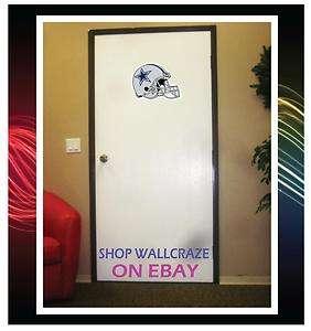 Dallas Cowboys Helmet NFL Removable Door Wall Decor Sticker Decal