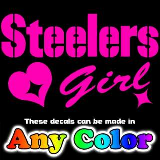 Steelers Girl Glitter Metallic Car Window Sticker Decal