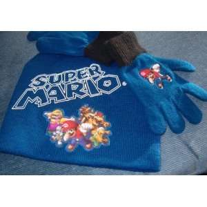Nintendo Super Mario Knit Hat and Gloves