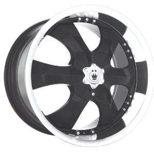 22x9.5 Konig Open Road (Gloss Black w/ Machined Lip) Wheels/Rims 5x135