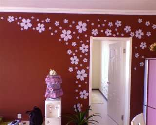 Cherry Blossoms Flowers Decor Mural Art Wall Sticker Decal S068