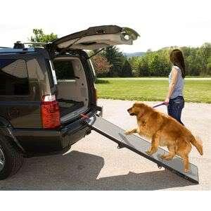 Pet Gear Tri fold Compact Dog Ramp TRUCK SUV Holds 200