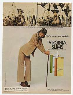 1975 Virginia Slims Mrs Cheryl Van Eaton Duck Decoy Ad