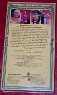 CINDERELLA Faerie Tale Theatre VHS Jennifer Beals