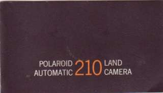 Polaroid 210 Land Camera Instruction Manual Original. English; 43