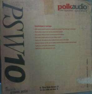 NEW Polk Audio PSW10 10 Inch Monitor Sub Black