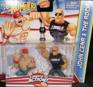 ROCK & JOHN CENA   WWE RUMBLERS TOY WRESTLING ACTION FIGURES