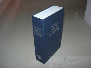 Book Hidden Safe With Key Lock Book Safe In Navy(Middle Size)