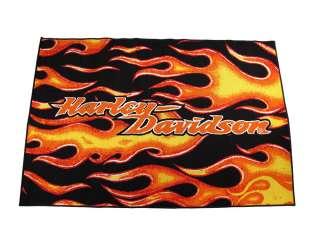 38` X 59` Licensed Harley Davidson Flames Area Rug