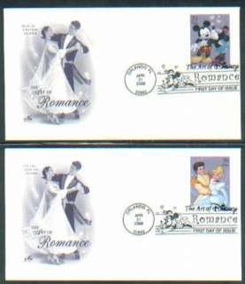 2006 ROMANCE DISNEY Mickey Mouse Art Craft FDC set/4
