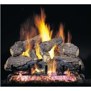 com Peterson Gas Logs 18 Inch Charred Northern Oak Vented Propane Gas