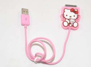 Hello Kitty USB Data Line Charging Cable iPod iPhone
