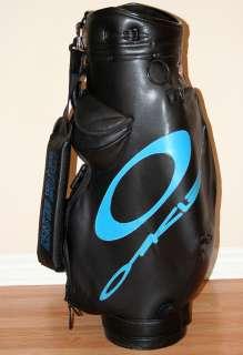 Caro Deporte Golf Tour Staff Cart Bag Black Leather Oakley Logo