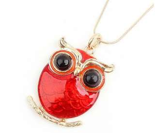 New Animal Jewelry Big Eye Owl Pendant Necklace 2 Colors
