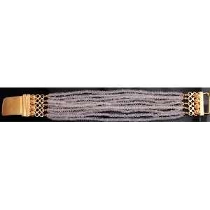 Faceted Rose Quartz Gold Plated Bracelet   Sterling Silver