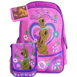 New Scooby Doo Pink Backpack Matching Lunch Bag & Wallet Toys & Games