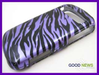 for Cricket Samsung Vitality R720   Purple Black Zebra Hard Case Phone