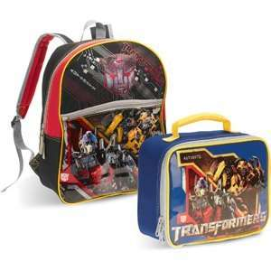 School Supplies Transformers Autobot Split Backpack and